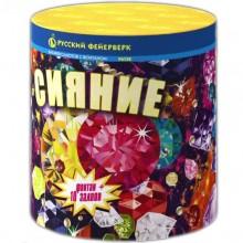 """Фонтан пиротехнический + салют Сияние Р6750 (0,8"""" х 10)"""